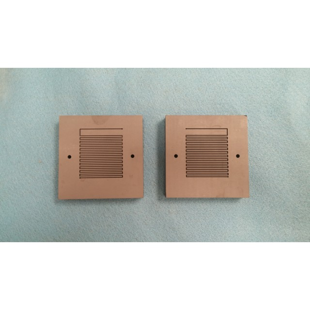 16 cm2 Poco Graphite Blocks (Pair with customer specified flow-pattern)