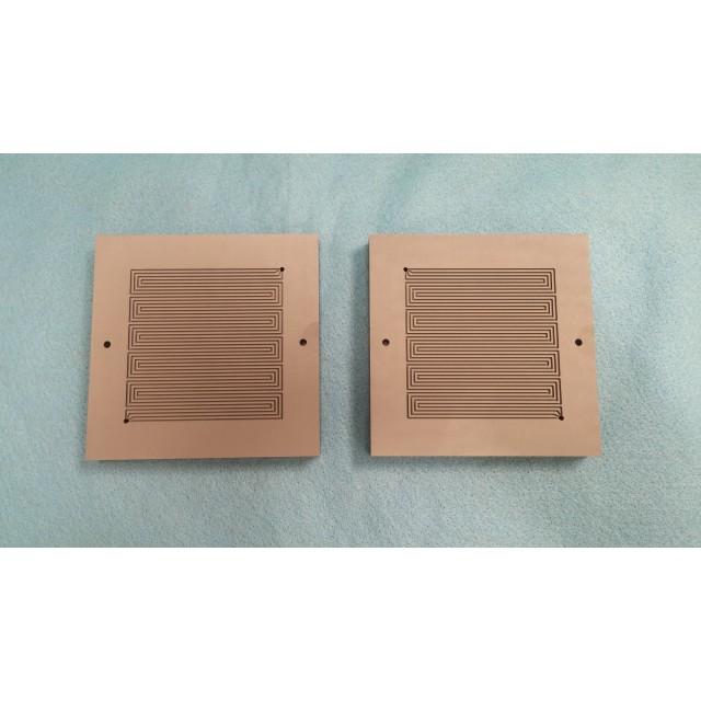50 cm2 Poco Graphite Blocks  (Pair with customer specified flow-pattern)